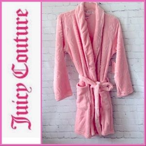 🆕💝JUICY COUTURE ULTRA SOFT PLUSH PINK ROBE